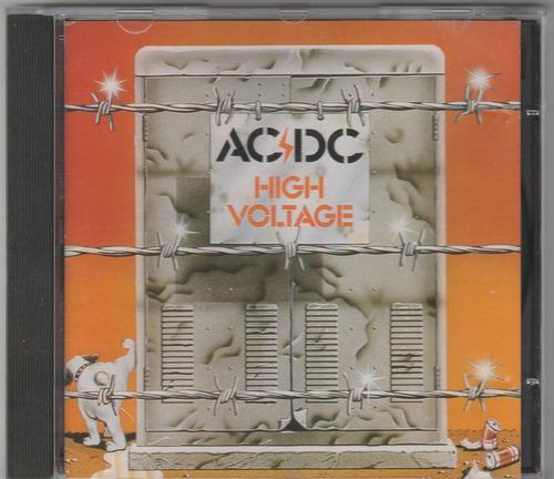ac/dc high voltage japão p/ australia cd 1ª edição mega raro