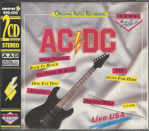 ac/dc live & alive usa 2cd (ex++/ex)(germany) 2cd import*