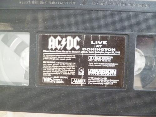 ac/dc live at donington 1991, en vhs