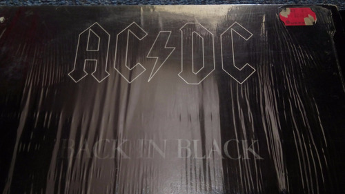 acdc lp back in black, impecable