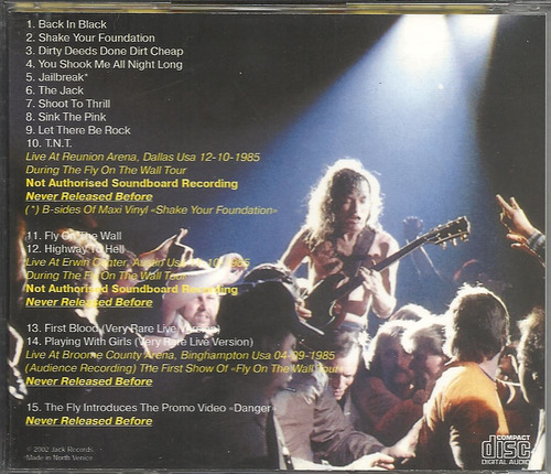 ac/dc session rarities bsides 6 2002 (nm/nm)(us)cd import*