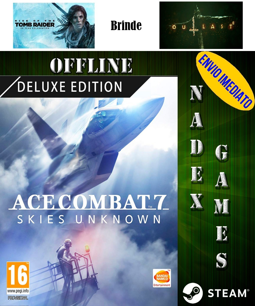 Ace Combat 7: Skies Unknown Deluxe Edition Steam + 3 Jogos