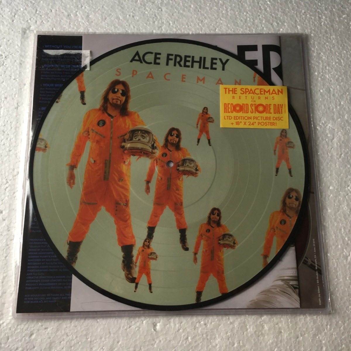 Ace Frehley Lp Picture Spaceman Record Store Day 2019 Vinil