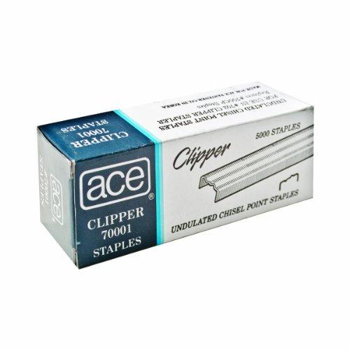 ace ondulada grapas clipper para 07020, caja 5.000 grapas