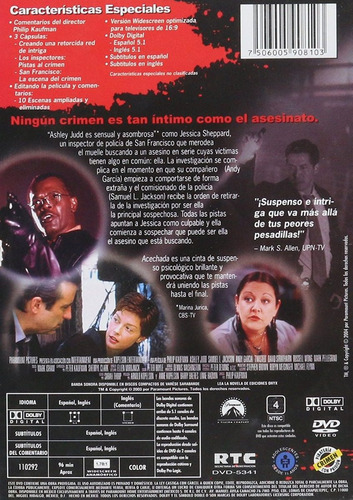 acechada / dvd / twisted /ashley judd,andy garcia