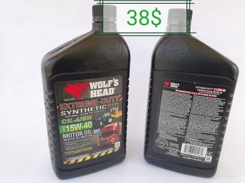 aceite 15w40 semi sintetico wolfs head por litro