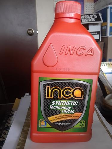 aceite 15w40 semisintetico inca