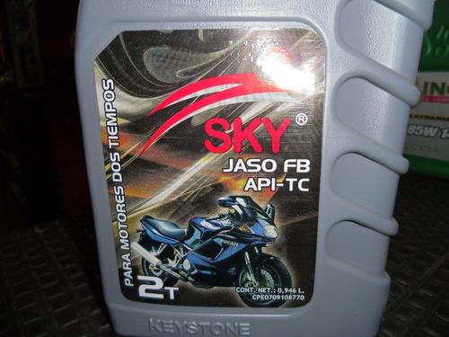 aceite 2 tiempo moto sky