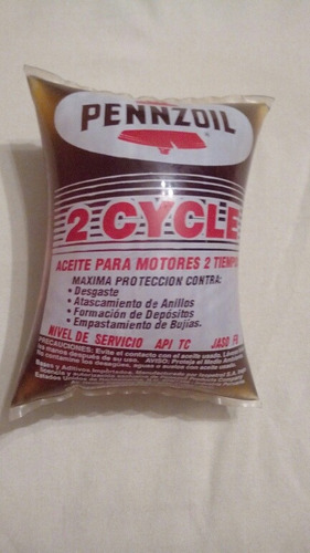 aceite 2 tiempos bolsa 190cc pennzoil