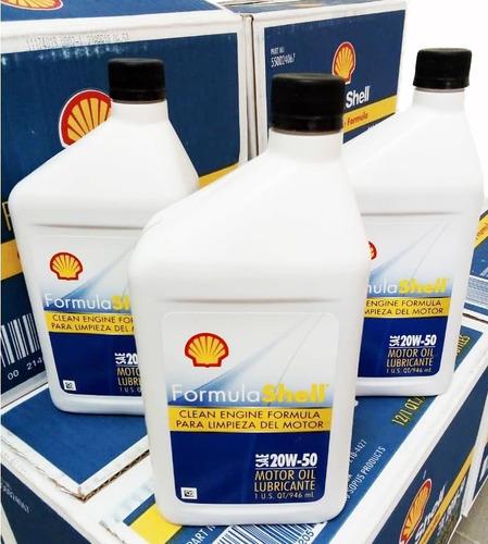 aceite 2050 shell 20w 50 somos tienda sellado 100% original
