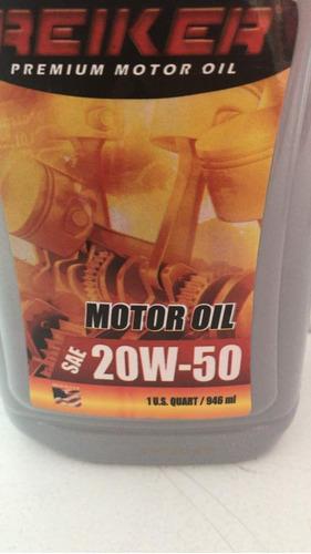 aceite 20w 50 mineral reiker americano original