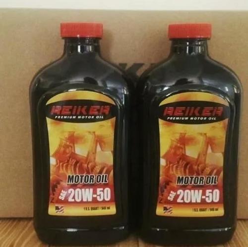 aceite 20w50 mineral americano original marca reiker