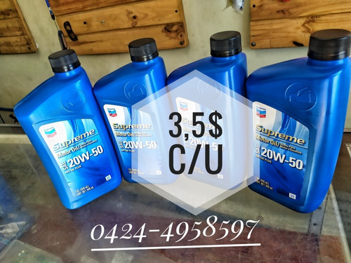 aceite 20w50 mineral chevron supreme (3v c/u)