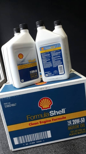 aceite 20w50 shell 100% importado americano