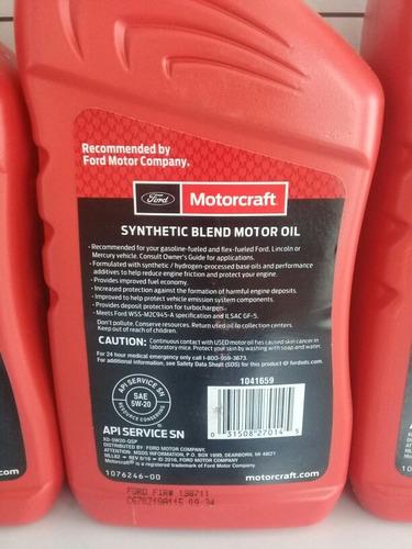 aceite 5w-20 semisintetico motorcraft
