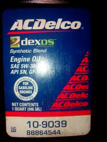 aceite 5w30 acdelco semisintetico