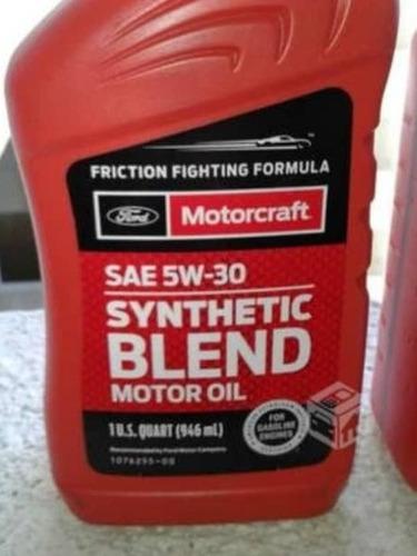 aceite 5w30 motorcraft semi sintético, fiesta 2015