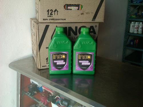 aceite 80w90 valvulina inca sellado