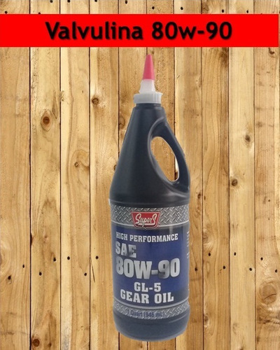 aceite 80w90 valvulina  super s importado  somos tienda