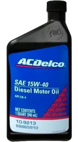 aceite acdelco motor diesel gasolina 15w40 ac15w40diesel spc