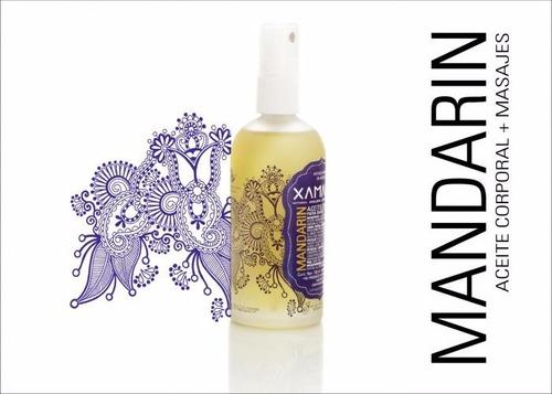 aceite almendra dulce mandarin vegano cabello cuerpo xamania