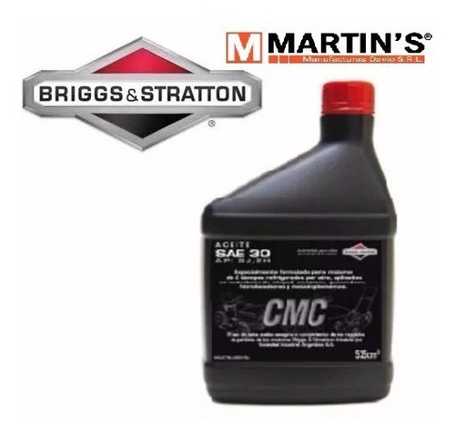 aceite briggs & stratton 4 t 450cc sae30 api si series e cmc