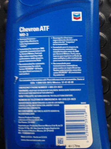 aceite caja automatica dexron3 chevron 45lacaja tiendafísica