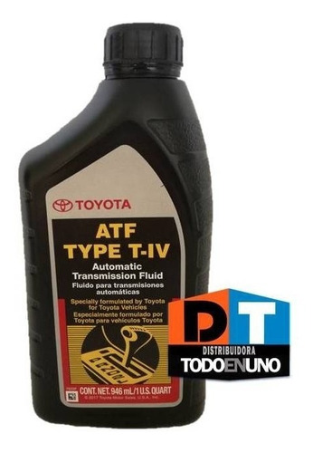 aceite cajas automaticas toyota atf type t-iv americano
