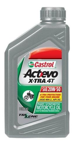 aceite castrol actevo xtra 4t 20-50 semisintetico- sti motos