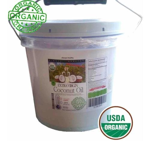 aceite coco orgánico exvirgen prensado/frío sin sabor 1galón