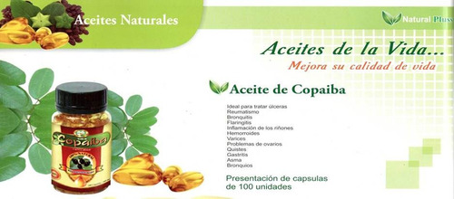aceite copaiba natural plus capsulas x 100