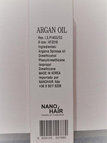 aceite de argan en crema 100 grs sin silicon nano hair