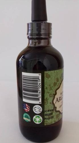 aceite de argán virgen organico 4 onzas puro y certificado