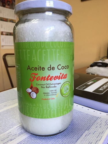 aceite de coco 1 litro + aceite almendras 1 litro fontevita