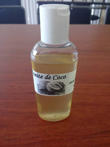 aceite de coco 100% artesanal.