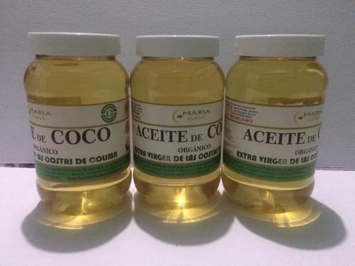 aceite de coco 500 ml organico extra virgen libre de olor