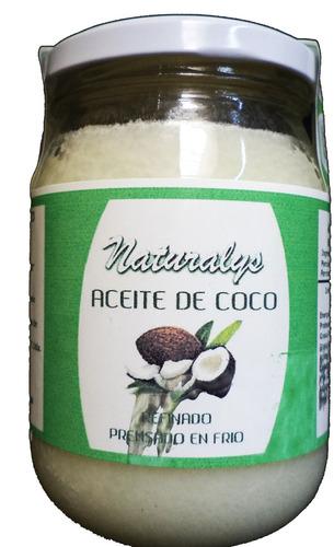 aceite de coco comestible 400 g naturalys los 3 frascos
