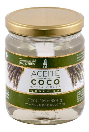 aceite de coco extra virgen organico 384 gr