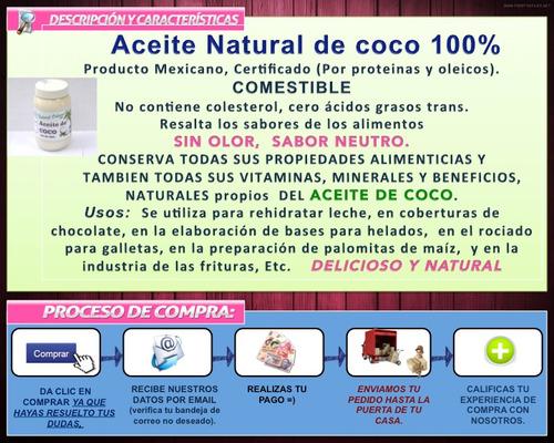 aceite de coco natural extraido en frio comestible