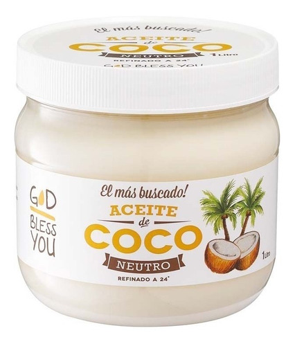 aceite de coco neutro god bless you - 1 litro