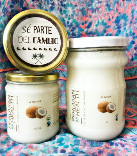 aceite de coco orgánico 1 litro / organic coconut oil 1l