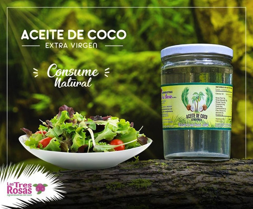 aceite de coco orgánico 1 litro / organic coconut oil