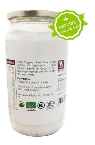 aceite de coco orgánico 100% virgen 1000ml
