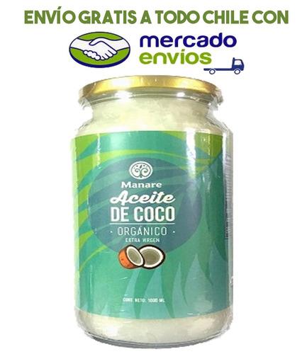 aceite de coco orgánico - 1000 ml - envio gratis todo chile