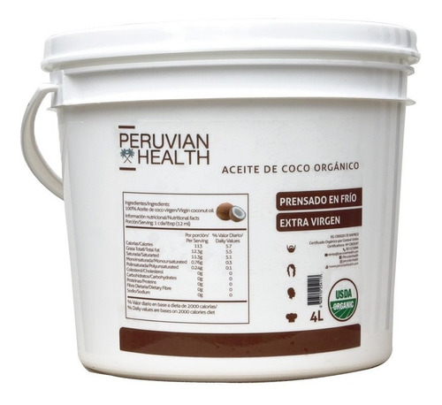 aceite de coco orgánico balde 4 litros peru lima ahora