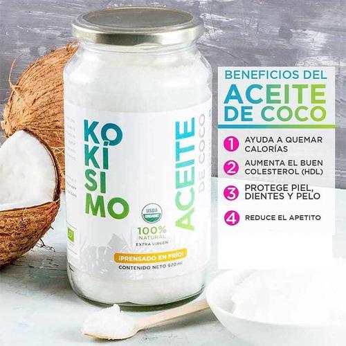 aceite de coco orgánico extra virgen, 970 ml