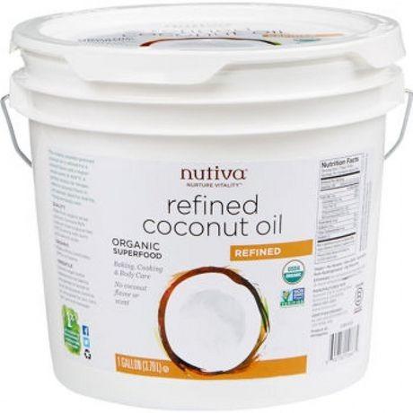 aceite de coco orgánico nutiva certificado 3,79 litros