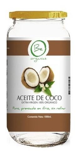 aceite de coco orgánico prensado en frio 1 litro