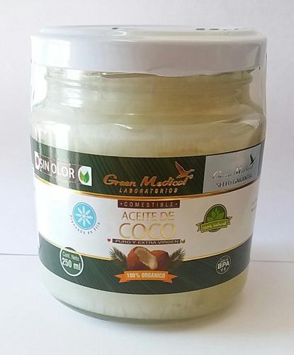 aceite de coco orgánico prensado en frio  250 ml sin olor