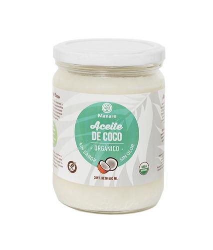 aceite de coco orgánico sin olor ni sabor 500ml